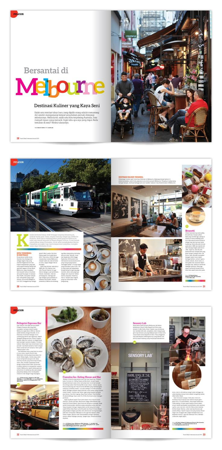Magazine Layout, Travel3Sixty Indonesia.