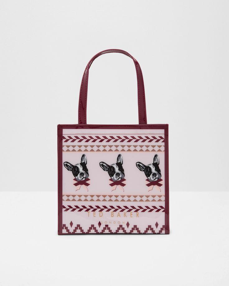 Ted Baker Cotton Dog Fair Isle small shopper bag
