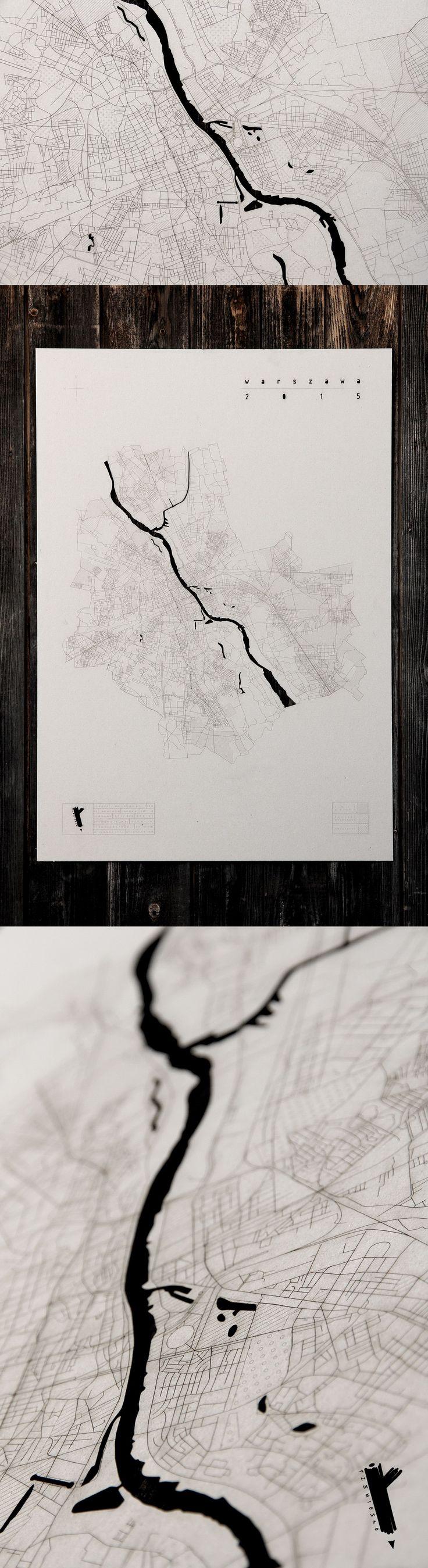 www.rzemioslo.pro #warsaw #warszawa #mapa #plan #siatkaulic #tektura #karton #grawerowanie #naścianę #dekoracja #design #wnętrza