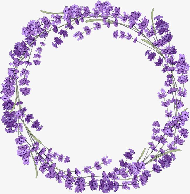Lavender Wreath Purple Lavender Wreath Png Image Lavender Wreath Floral Border Design Flower Clipart