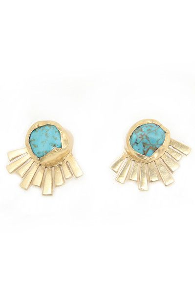 Zariin Mystery Turquoise Studs: Available at http://eveadorned.com/collections/zariin