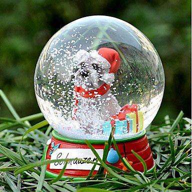 Härlig Schnauzer Dekorativa Crystal Ball Ornament julklapp för djurälskare – SEK Kr. 240
