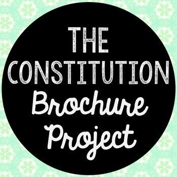 The American Constitution Research Brochure Project. Perfect if you need to cover this time period, but need a condensed lesson unit! Use this as a guide for your own lesson or as an independent Internet research project.