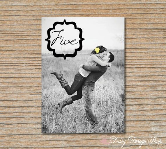 Table Number Card  5x7 Photo Card with Bracket by DaisyDesignShop, $1.30