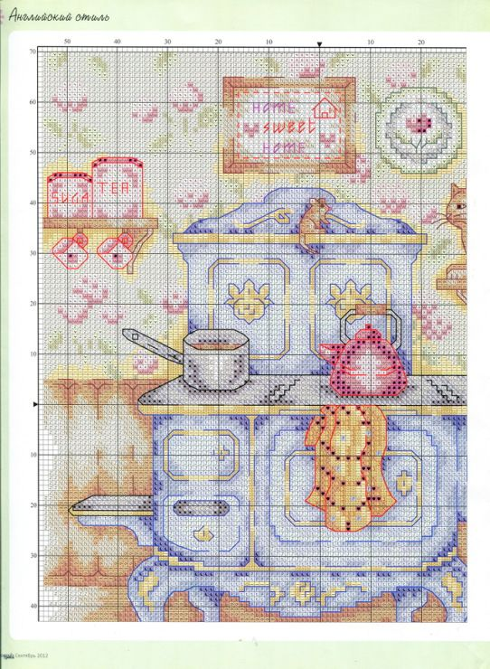Kitchen With Cat And Dog Part 1 Of 3 Free Cross Sch Pattern