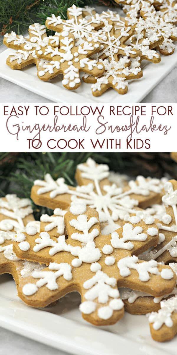 Christmas Gingerbread Snowflake Cookies