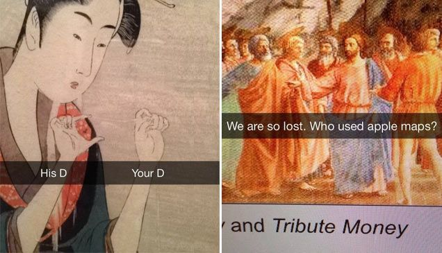 These people are all a lot better at snapchat than my friends.