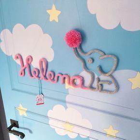 Nome em tricô aramado, ideal para decorar o quarto do bebê, serve também para decoração do chá de fraldas, porta da maternidade, batizado ou aniversário. Valor é calculado por letra, pedido mínimo de 3 letras. Nomes menores que 3 letras será aplicado o valor mínimo (R$ 89,50). Confira abaixo ...
