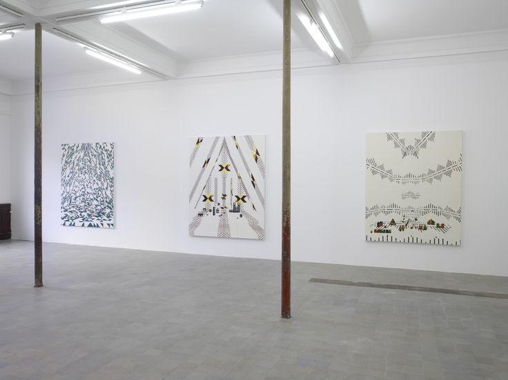 Farah Atassi, vue de l'exposition présentée du 11 octobre 2014 au 4 janvier 2015 au Grand Café – centre d'art contemporain de Saint-Nazaire. Grande salle, rez-de-chaussée. Photographie Marc Domage