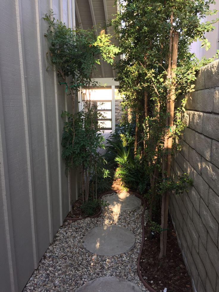 This is the small side #garden that leads to the #backyard #foyerdecor #foyerdesign