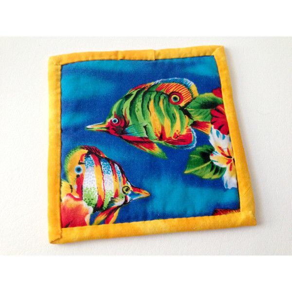 Tropical Fish Hotpad, Fish Mug Rug, Colorful Fish, Tropical Trivet,... ($4.99) ❤ liked on Polyvore featuring home, kitchen & dining and kitchen gadgets & tools