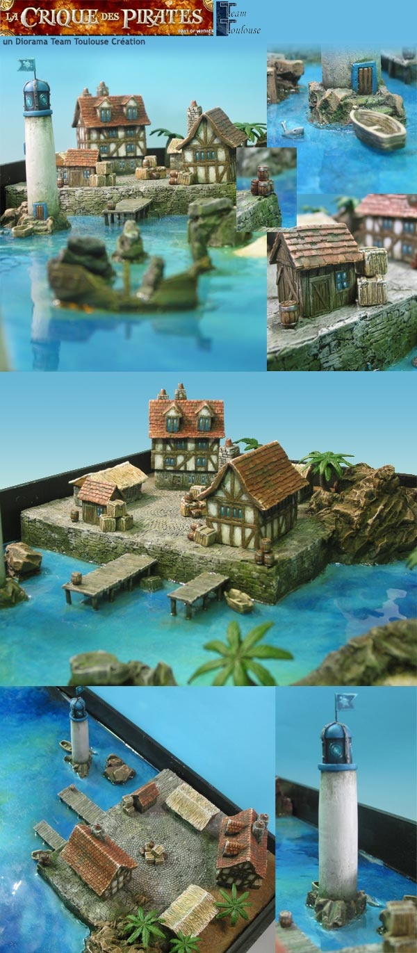 TeamToulouse Création - Pirate's cove 3D board | Fantasy ...