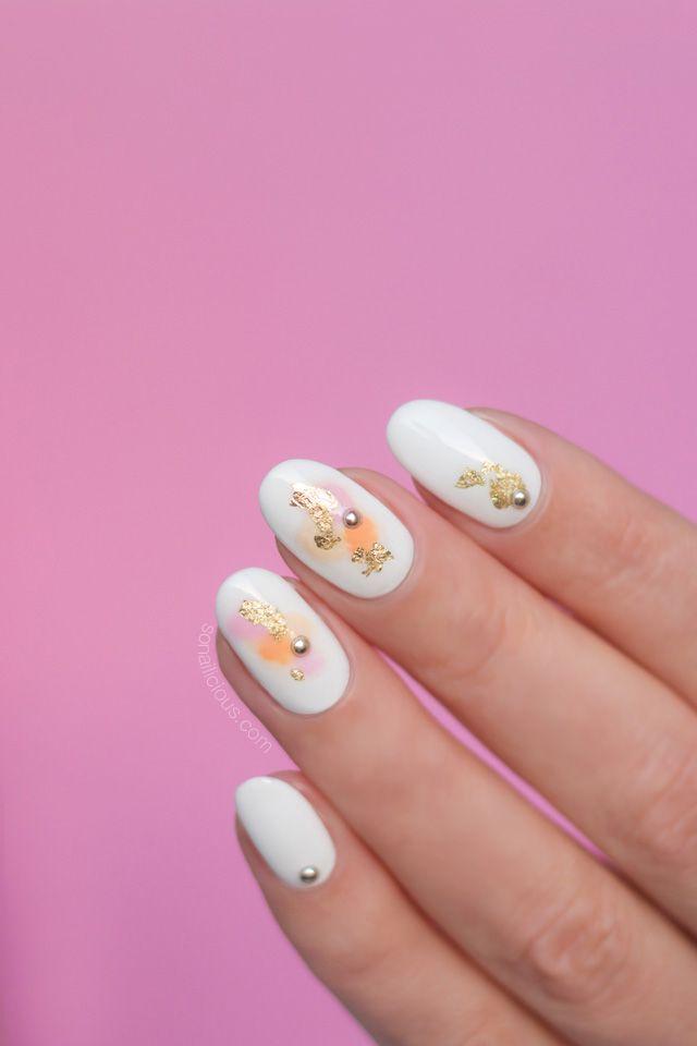 Tutorial Delicate Watercolor Nails Nails Water Color Nails