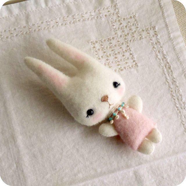 bunny by Gingermelon, via Flickr ♥ Felt Wool Doll
