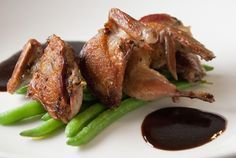 Pan-Fried Quail with Red Wine Sauce