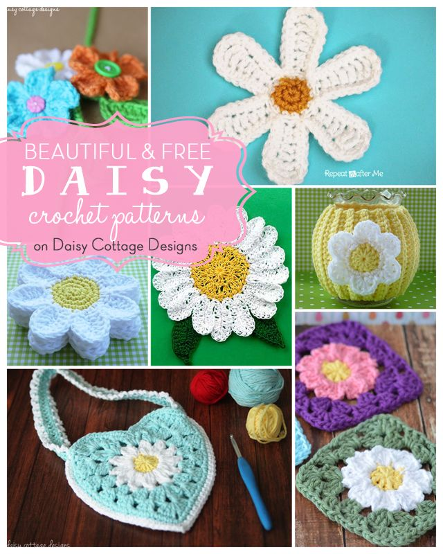 17 Free Daisy Crochet Patterns on Daisy Cottage Designs.