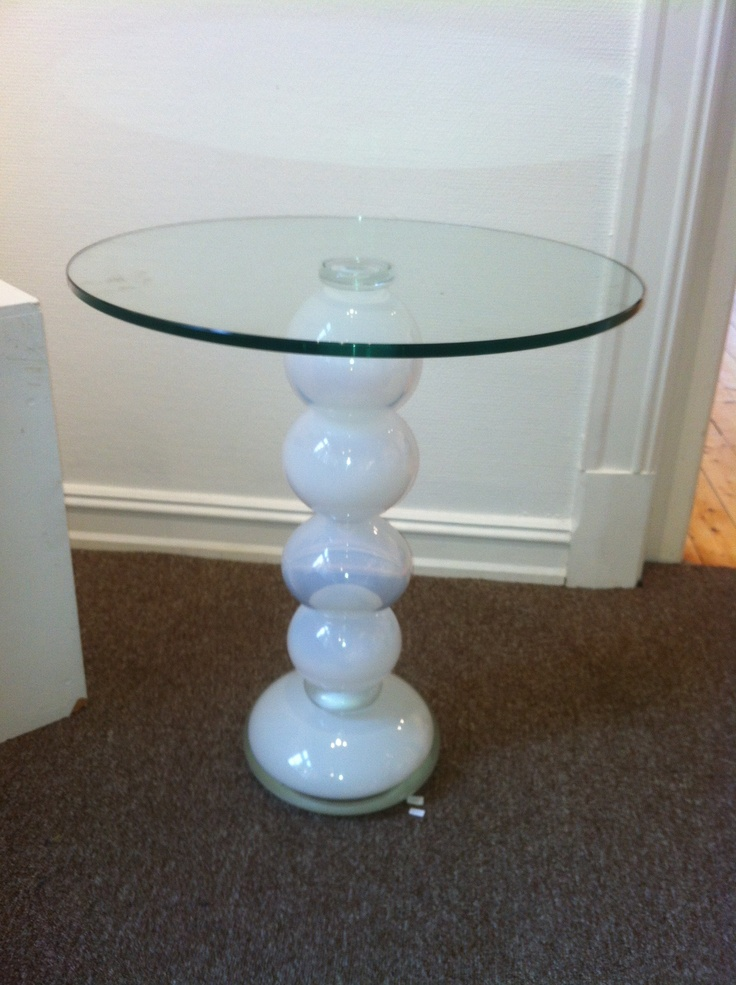 Blown glass table.