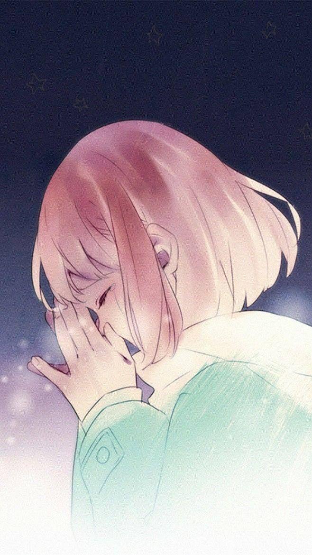 Картинки аниме грустных