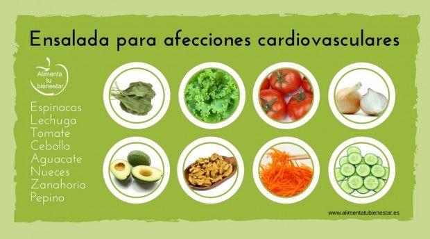Ensalada para afecciones cardiovasculares