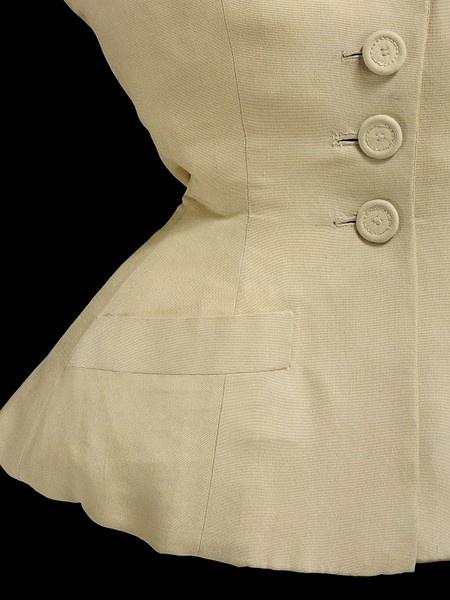Dior New Look, incredible jacket detail 1947