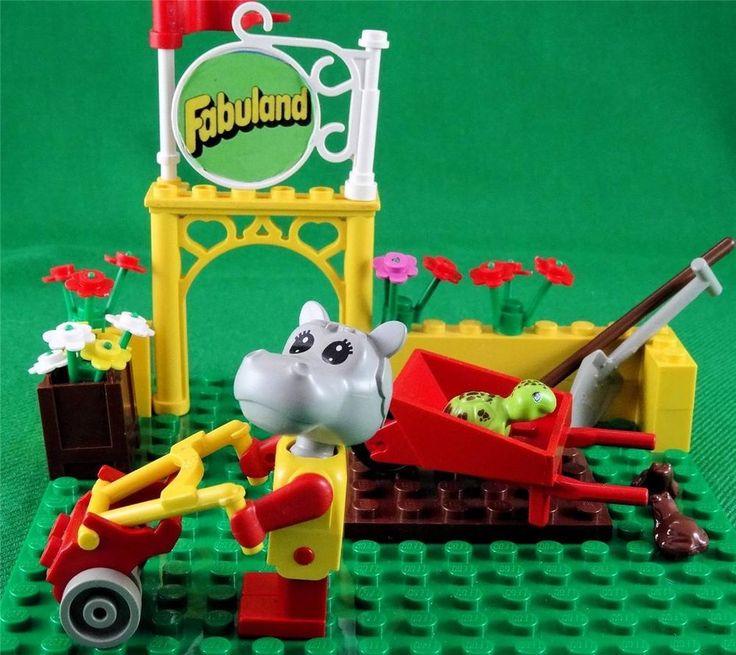 Vintage 1983 Lego Fabuland set 3787 - Hannah Hippo the Public Gardener + Extras