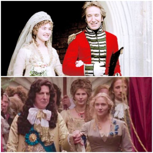Alan Rickman and Kate Winslet - Sense and Sensibility & A Little Chaos - both fine films!