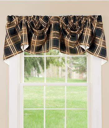 shop for window toppers greenwich plaid lined austrian valance at country curtains for this and more window treatments and curtain hardware