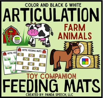Articulation Feeding Mats for Farm Animals: A Speech Therapy Toy Companion 50% off for the firs 24 hours! Buy Quick! Do you need a super fun activity to keep your articulation students engaged? Want to feed farm animals in therapy with no to low prep?
