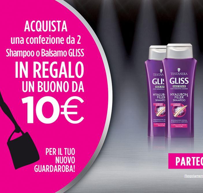 Testanera GLISS ti regala 10€ per lo shopping