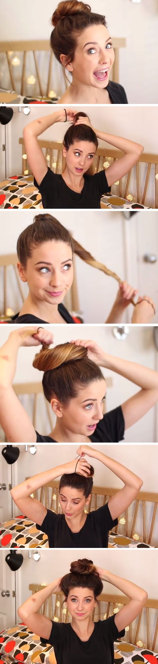 Messy Bun   Click Pic for 24 Quick and Easy Back to School Hairstyles for Teens   DIY No Heat Hairstyles for Long Hair