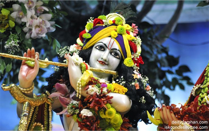 To view Gopinath Close Up Wallpaper of ISKCON Chowpatty in difference sizes visit - http://harekrishnawallpapers.com/sri-gopinath-close-up-wallpaper-001/