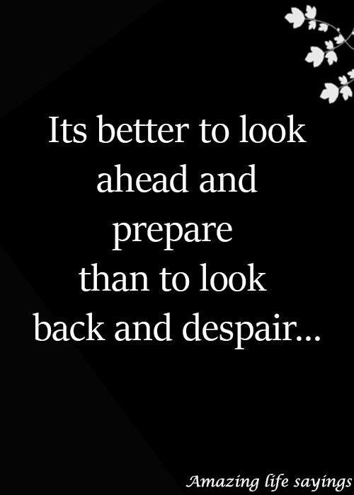 Look ahead and #prepare
