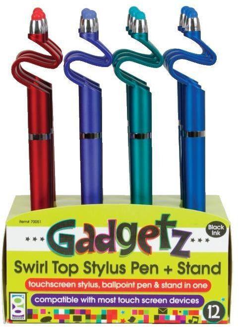 gadgetz swirl top stylus pen Case of 12