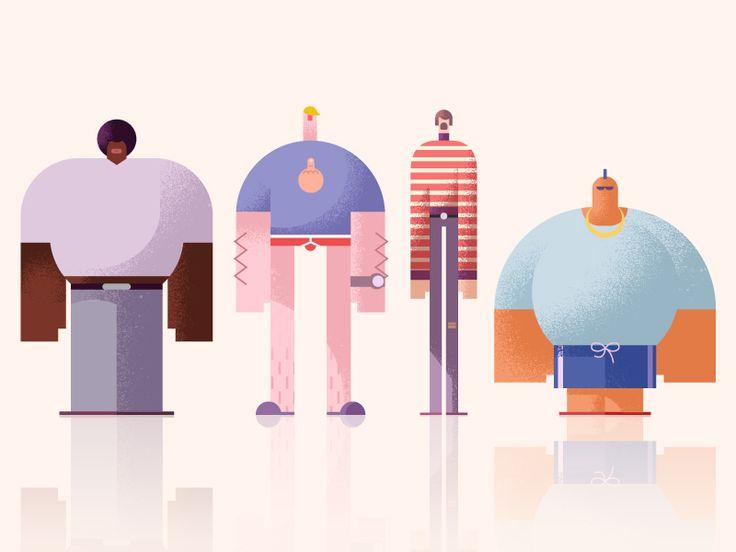 Guyz by Csaba Khilenberg #Design Popular #Dribbble #shots