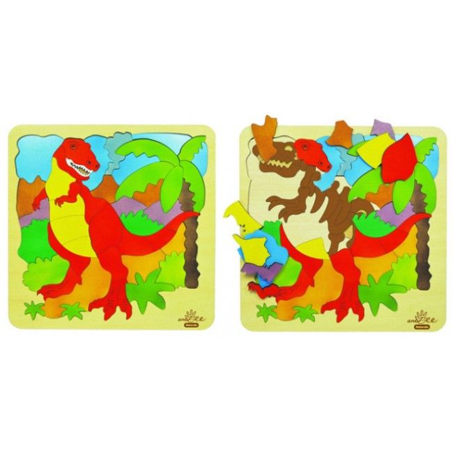 DAY 3 FIND: This Double Layer T-Rex Puzzle from AndZee was the prize today - love the wood & beautiful colours #win #puzzle #Easter