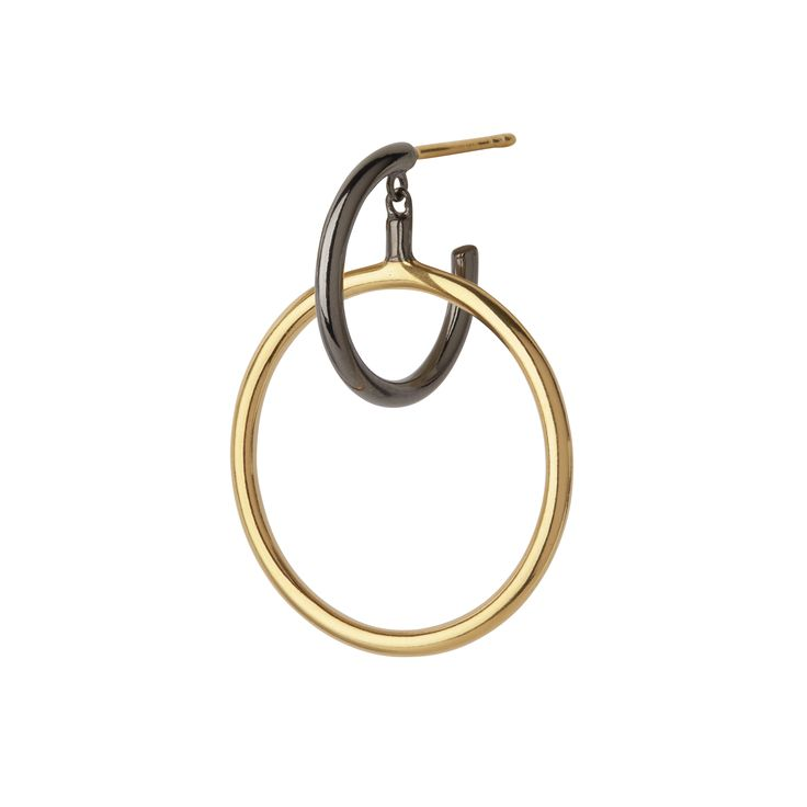 Black/Gold Norma Medi Hoop from Maria Black