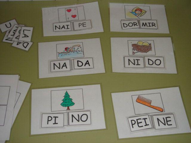 En estas plantillas dejo las sílabas móviles para trabajar las letras D y N. Al igual que las anteriores, las he elaborado para 5 años, pero comencé a trabajar la mecánica de este juego en 4 años con las primeras consonantes dadas. En ellas están incluidas palabras con las grafías D …