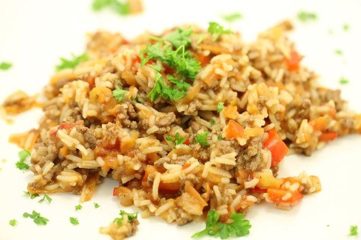 Risret med oksekød, gulerod og peberfrugt