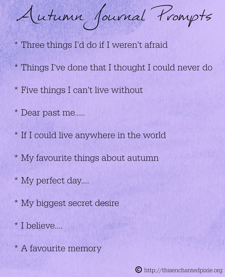 autumn journal prompts