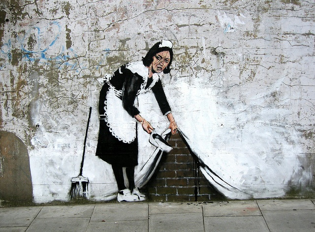 Amazing Graffiti by Banksy close to the Roundhouse - Camden Town, London by canonsnapper. You'll find so many art works like this around Camden area. Truely amazing art!!
