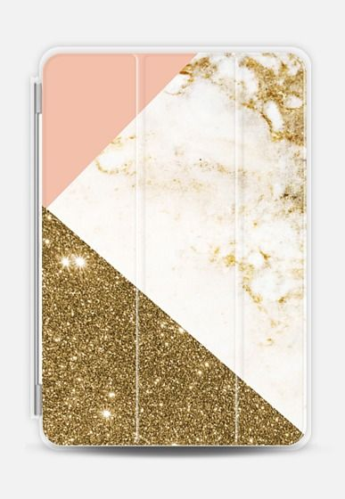 Marble Gold & Pink iPad Air 2 cover by Emanuela Carratoni | Casetify