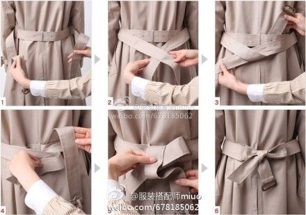 Tie a coat belt in the back.