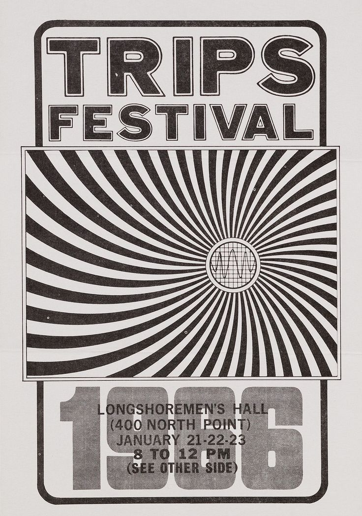 "Wes Wilson, ""Trips Festival,"" Longshoremen's Hall, San Francisco, 1966, 1966."