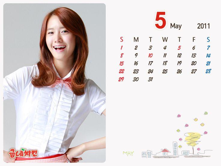 Snsd yoona calendar 2011 5th of May