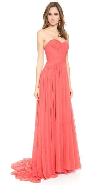 Strapless Silk Chiffon Gown  http://rstyle.me/n/d8sgppdpe