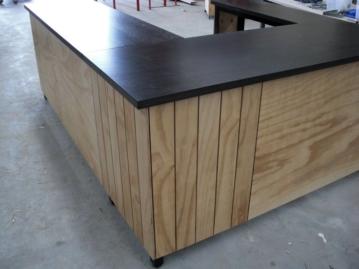 Plywood counter http://industriax.blogspot.com.au/2010/08/lip-cafe-counter.html