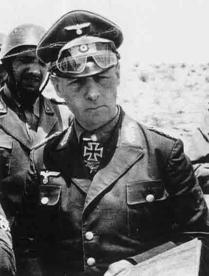 """14 Oct 44: Field Marshall Erwin Rommel is forced to commit suicide after he is loosely implicated in the 20th July Bomb Plot against Hitler. That, and Rommel's """"defeatist"""" attitude of late, was enough to warrant Hitler's wrath. The problem for Hitler was how to eliminate Germany's most popular general without revealing to the German people that he had ordered his death. His simple solution: Rommel had succumbed to wounds received in battle."""