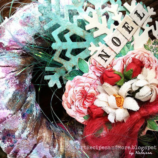 Art Recipes and More: Mini Christmas Wreaths