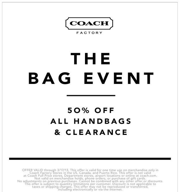 Coach purse coupons printable