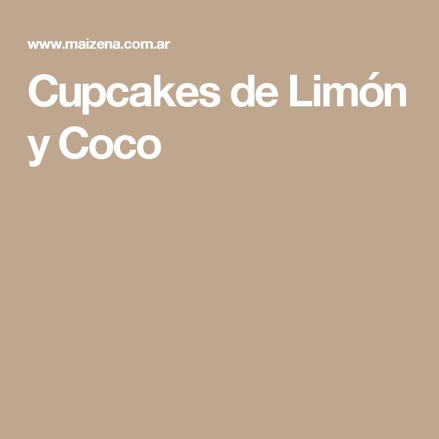 Cupcakes de Limón y Coco